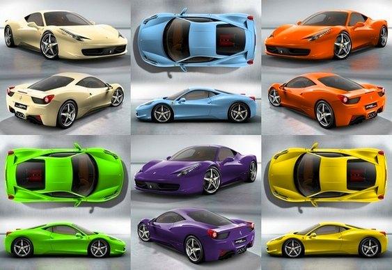 Cores para Ferrari