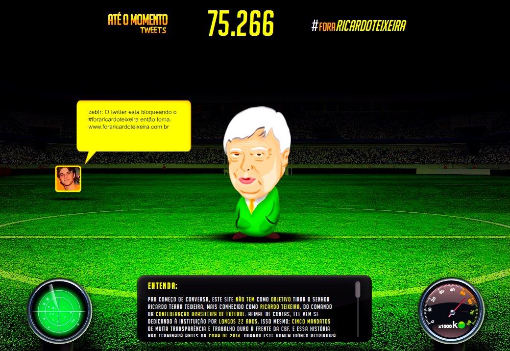 Site Fora Ricardo Teixeira