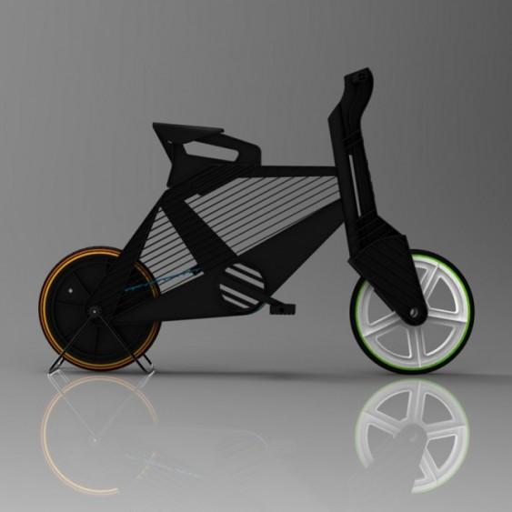Bicicleta de plástico colorido