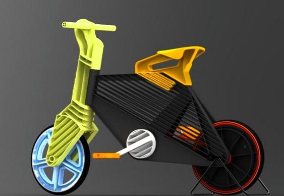 Bike ecológica criada por estudante