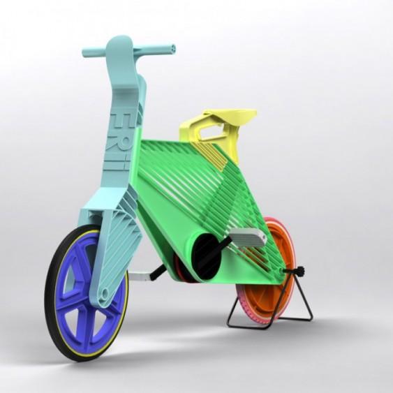 Bike de plástico reciclado