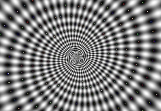 Espiral - ilusão de ótica