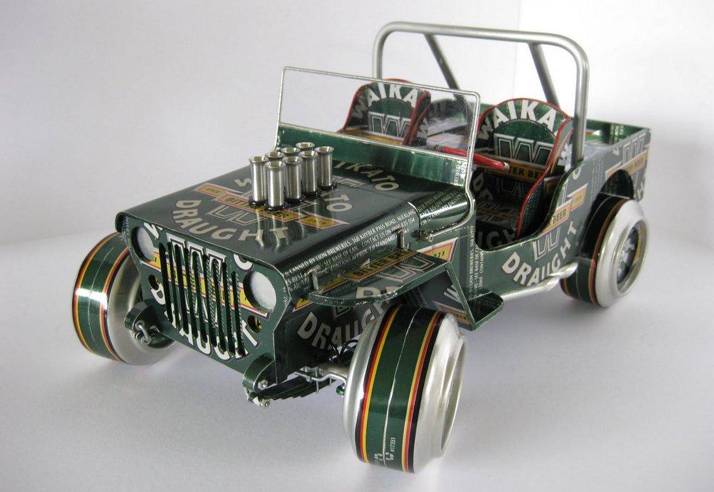 Miniatura Jeep Militar alumínio