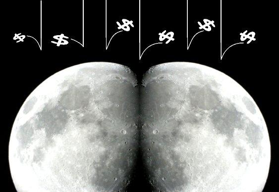 Nasceu virado pra Lua