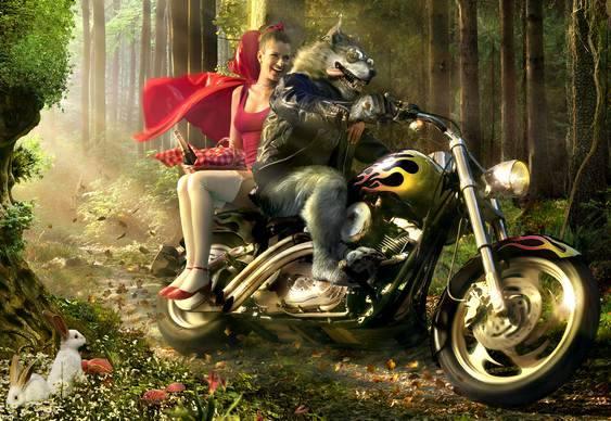 Lobo Mau Motoqueiro e Chapeuzinho Vermelho