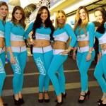 As 'grid girls' da Corrida do Milhão 2011 da Stock Car em Interlagos
