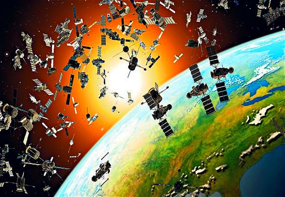 Faxina espacial com satélite gari