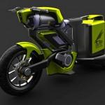 Poluição zero: motocicleta ecológica movida a ar comprimido
