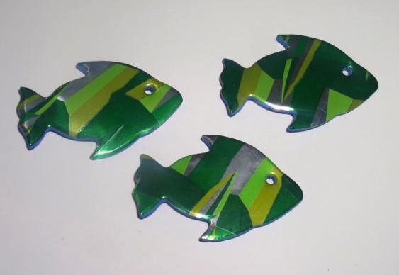 Peixinhos de latinhas de alumínio