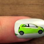 Arte espetacular em unhas postiças promove novo carro Picanto, da Kia
