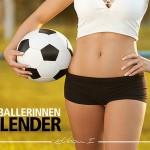 Calendário de futebol feminino com jogadoras alemãs boas de bola
