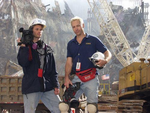 Nos escombros das Torres Gêmeas