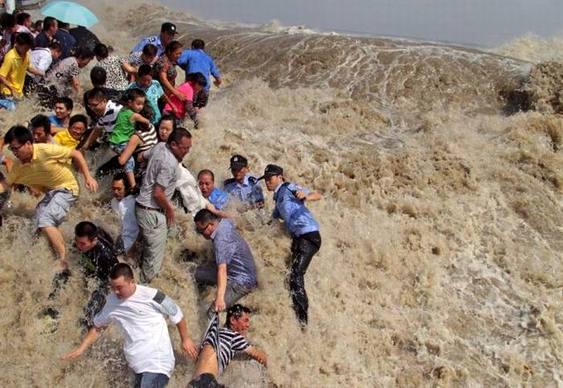 Onda em rio chinês