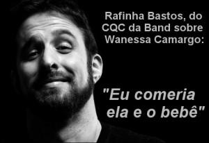 Rafinha Bastos - ódio às mulheres
