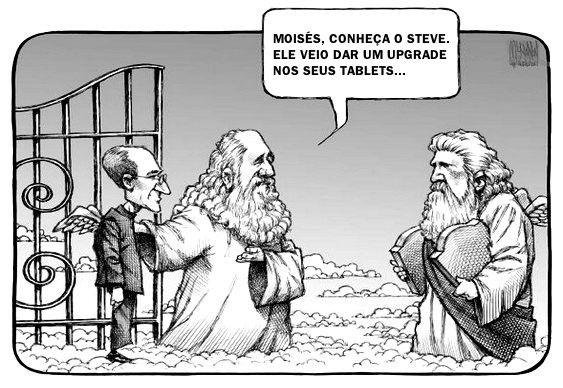 Steve Jobs, da Apple, e Moisés, das tábuas