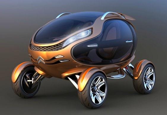 Automóvel em forma de ovo