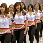 Grid Girls que rolaram na pista do GP de F1 da Coreia do Sul