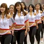 Grid Girls que rolaram na pista do GP de F1 da Coreia do Sul