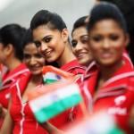 As 'garotas do grid' do Grande Prêmio de Fórmula 1 da Índia