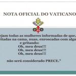 Nota oficial do Vaticano sobre o comportamento das mulheres