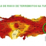 Mapa mostra áreas com alto risco de terremotos na Turquia