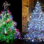 Ideias e modelos de árvores de Natal com materiais recicláveis