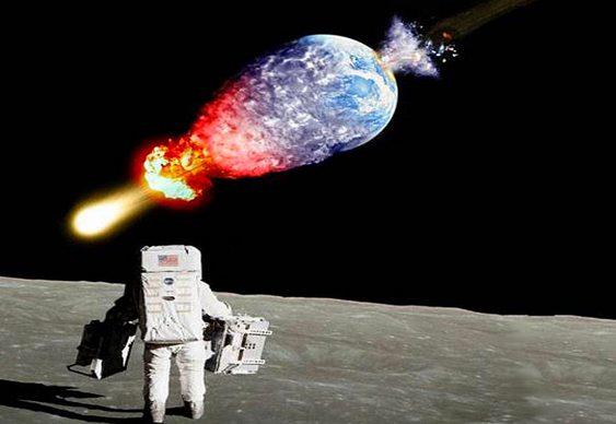 Astronauta assiste destruição do planeta