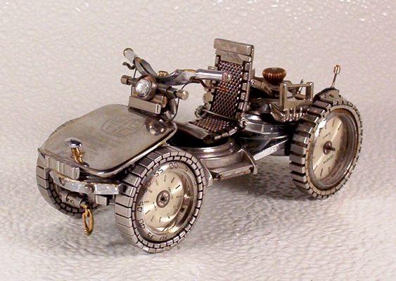 Miniatura de quadriciclo - reciclagem