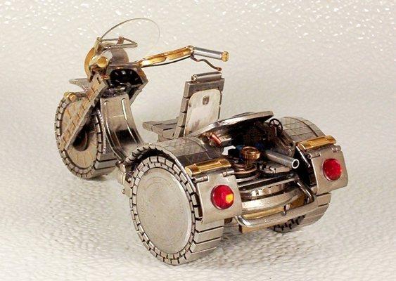 Miniatura de triciclo - reciclagem