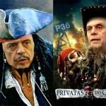 O vexame de José Serra como pirata na trama de A Privataria Tucana