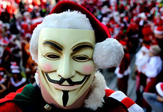 Papai Noel - Máscara Anonymous