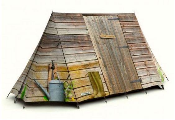 Pintura em barraca de acampamento