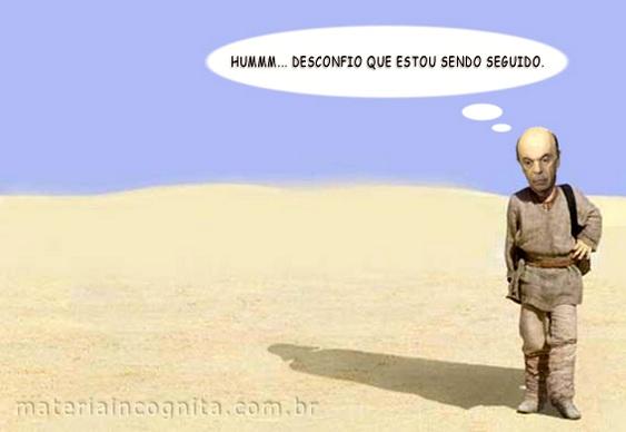 Charge - Serra foge de Amauri Ribeiro Jr