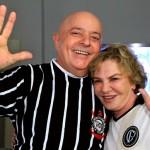 Lula – careca feliz comemora o título de campeão do Corinthians