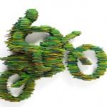 Esculturas de motos, carros e bikes com pedaços de tubos de PVC