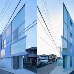 Construção de prédio de apartamentos em terreno triangular