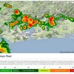 Radar monitora em tempo real chuvas e tempestades no Sudeste