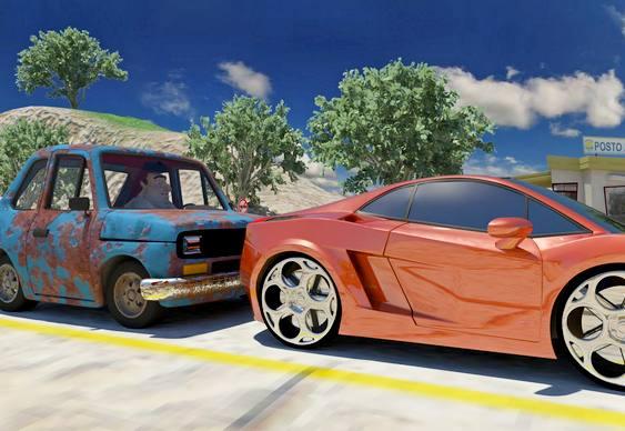 Vídeo Fiat 147 Lamborghini e Porsche