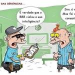 Charge sobre sexo e violação da inteligência no BBB da Globo