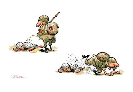 Soldado dos EUA mija sobre talebã morto