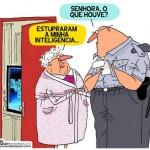 Charge: o suposto crime de estupro no BBB 12 da TV Globo