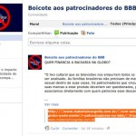 Campanha de boicote aos patrocinadores do BBB no Facebook
