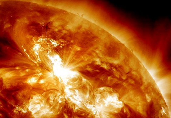 Explosões no Sol - tempestades solares