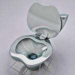Vaso sanitário iPoo com a forma de maçã da logo da Apple