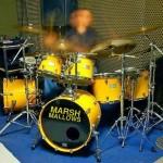 Cúmulo da rapidez é o baterista do Marsh Mallows tocando Sanzia