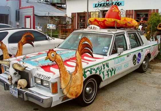 Automóvel mexicano customizado