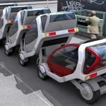CityCar: mini-carro dobrável no trânsito nas grandes cidades