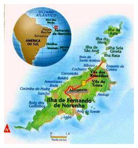 Fernando Noronha Mapa