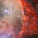 NGC 3324 é uma nebulosa com a cara de Alfred Hitchcock