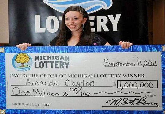 Ganhadora de 1 milhão de dólares na loteria